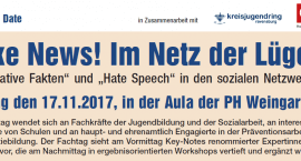 Save the date: Fake News! Im Netz der Lügen