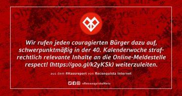 Reconquista Internet ruft zum Meldemarathon bei respect! auf